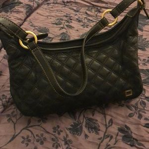 The Sak Black Leather Quilted Classic Purse Bag